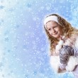 Cuty little girl in winter wear — Stock Photo #9220807