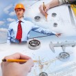 Construction industry collage — Stockfoto