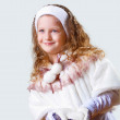 Cuty little girl in winter wear — Stock Photo #9281243