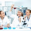 Young scientists working in laboratory — Stock Photo #9316770