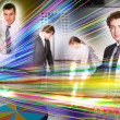 Collage of business persons — Stock Photo