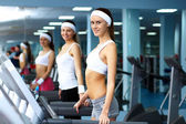 Woman in sport wear doing sport in gym — Стоковое фото