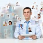 Businessman making presentation — Stock Photo