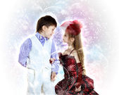 Portrait of boy and girl — Stock Photo