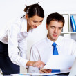 Royalty-Free Stock Photo: Two young business collegue in office