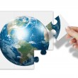 World as a puzzle — Stock Photo