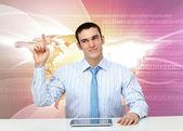 Jovem empresário fazer apresentação — Foto Stock