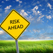Road sign warning about risk ahead — Stock Photo #9575809