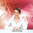 Young businesswoman making presentation - Stock Photo