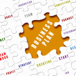 Puzzle pieces with business terms - Stock Photo