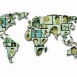 World map background — Stock Photo #9635789