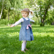 Portrait of a little girl outdoors — Stock Photo #9901236