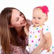 Young mother with little daughter — Stock Photo