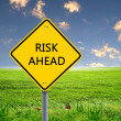 Road sign warning about risk ahead — Stock Photo #9901935