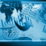gráficos y tablas de color financiera global — Foto de Stock