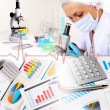 Medicine science and business collage — Stock Photo #9908117