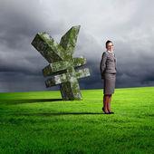 Collage op zaken en geld thema — Stockfoto