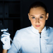 Young chemist working in laboratory — Stock Photo #9916529