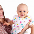 Young mother with little daughter — Stock Photo #9918633