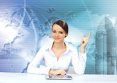 Young businesswoman making presentation — Stock Photo