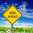 Road sign warning about risk ahead — Stock Photo
