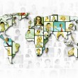 World map background — Stock Photo #9937136