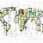 World map background — Stock Photo #9937136