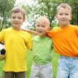 Stock Photo: Boys in the park with a ball