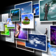 Screens with images flow — Stock Photo #9965217
