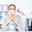 With cold and flu at work place — Stock Photo #9966065