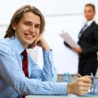 Young businessman at work in office — Stock Photo #9966566