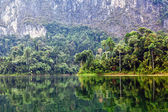 Cheow Lan lake. Khao Sok National Park. Thailand. — Stock Photo