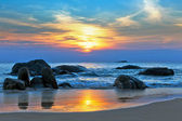Sunset over the sea — Stockfoto