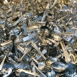 Background shiny silverware — Stock Photo