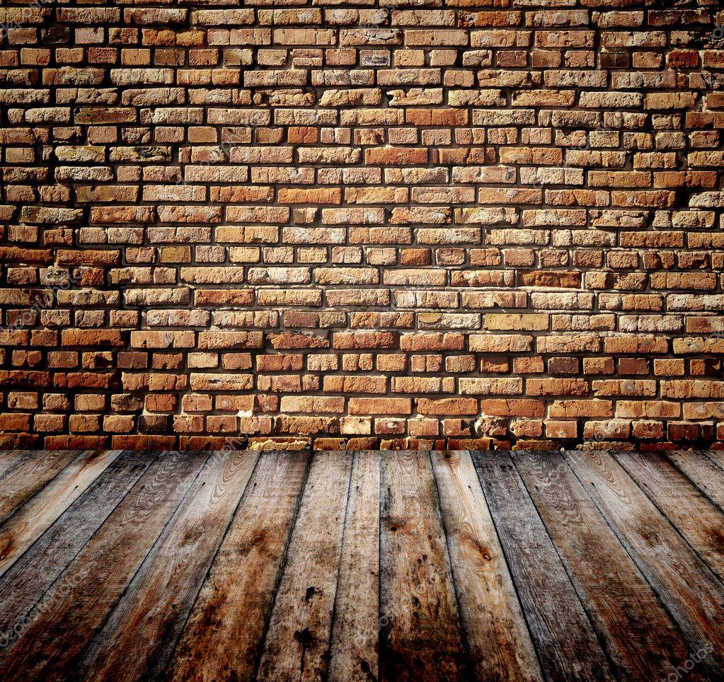 Habitaci n con pared de ladrillo foto de stock frenta - Ladrillos para pared ...