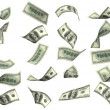 Collection of dollar banknotes — Stock Photo #10379244