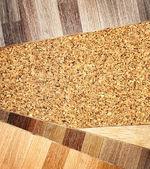 Parquet de roble y textura del suelo de corcho — Foto de Stock