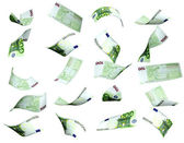 Collection of euro banknotes — Stock Photo