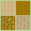 Set of seamless bamboo patterns — Vector de stock