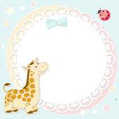 Vector background with cute giraffe — Stock Vector