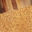 Oak parquet and cork flooring texture — Stock Photo