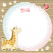 Vector background with cute giraffe — Stock Vector #10680042