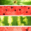 Watermelon. Collection of banners — Stock Photo