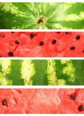 Watermelon. Collection of banners — Stockfoto