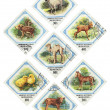 Set of stamps. 1982 of release — Stock Photo
