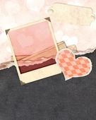 Grunge valentine background — Stock Photo