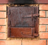 Two old furnace doors — Stock Photo