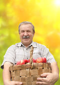 Harvesting a apple — Stock Photo