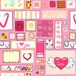Seamless valentine background — Stock Vector