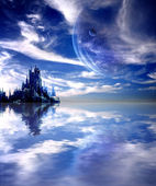 Landscape in fantasy planet — Stock Photo